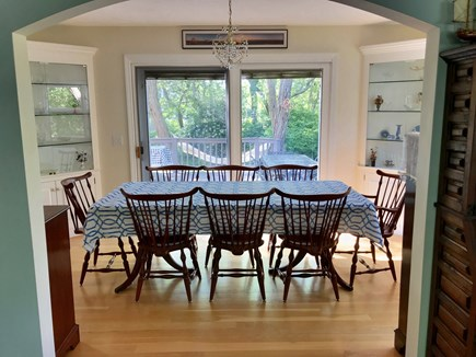 Eastham Cape Cod vacation rental - Dining Room seats 8 with sliders to back deck