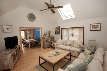 Chatham Cape Cod vacation rental - Open concept sunroom leading into eat-in kitchen & livingroom.