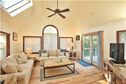 Chatham Cape Cod vacation rental - Open concept sunroom leading out into a multi level deck