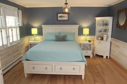 Chatham Cape Cod vacation rental - New Queen Bedroom set w/Gel infused mattress, Cedar Wainscoting.