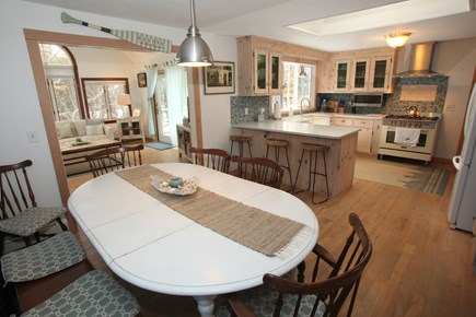 Chatham Cape Cod vacation rental - Remodeled Open Concept Kitchen flowing into Cathedral Sunroom.