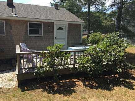 Chatham Cape Cod vacation rental - View of the back deck -  with an outdoor shower & Weber Gas Grill