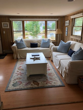 Chatham Cape Cod vacation rental - Living Room Summer 2018 - comfortable furniture/blinds