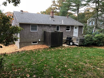 Chatham Cape Cod vacation rental - Back Yard View with new grass installed 11/2018