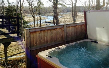 Pocasset Pocasset vacation rental - Hot tub off mater bedroom has room for eight.