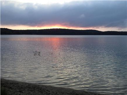Wellfleet Cape Cod vacation rental - Gull Pond summer sun set. (Taken from private beach.)