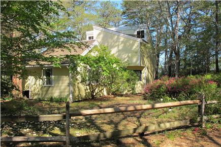 Wellfleet Cape Cod vacation rental - View of the house from private dirt road, 109 Gull Haven Lane