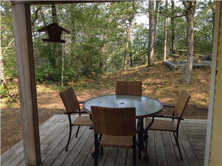 Wellfleet Cape Cod vacation rental - Deck just outside kitchen for relaxing and enjoying the views.