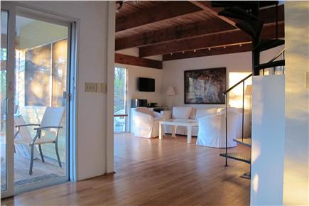 Wellfleet Cape Cod vacation rental - Spacious living room, dining, and kitchen area. Cape Light.