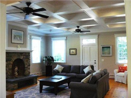 Yarmouth Port Cape Cod vacation rental - Huge lounge with hardwood floors and coffered ceilings