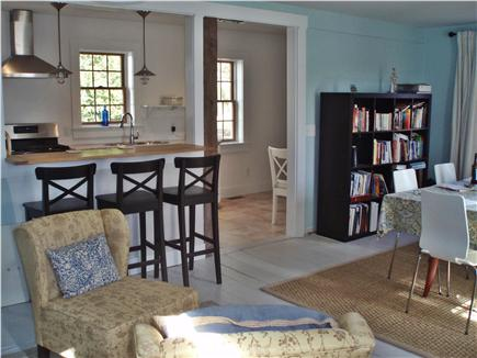 Chatham Cape Cod vacation rental - Dining Room for 8; Sitting Area; Breakfast Bar looks into kitchen
