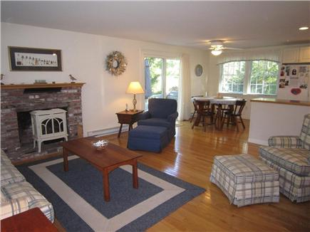 Brewster Cape Cod vacation rental - Spacious living area open to dining and kitchen area