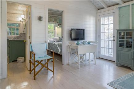 Chatham Cape Cod vacation rental - Living area with flat screen television, and entrance to bedroom