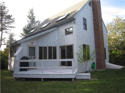 East Orleans Cape Cod vacation rental - Spacious deck overlooking beautiful landscaped grounds