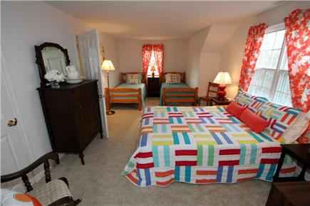 Brewster Cape Cod vacation rental - Guest Bedroom (2nd Level) w/ queen and two twins