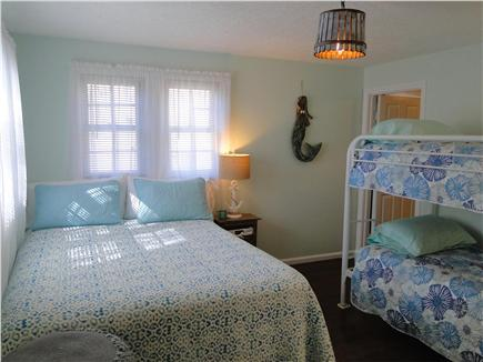 Barnstable Harbor Cape Cod vacation rental - Second bedroom with queen, bunk beds, and twin
