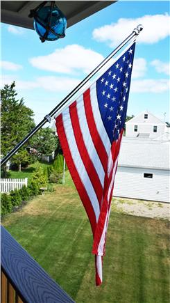 Barnstable Harbor Cape Cod vacation rental - Flag flying on the deck