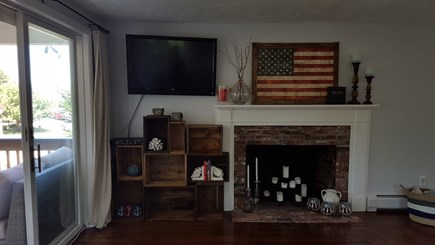 Barnstable Harbor Cape Cod vacation rental - Fireplace and TV