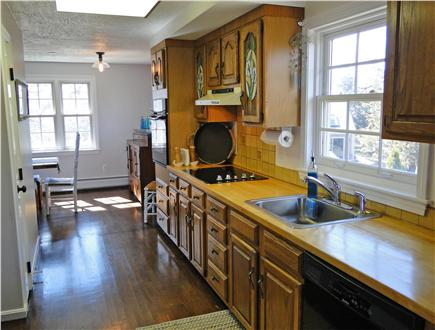 Barnstable Harbor Cape Cod vacation rental - Kitchen area facing dining room