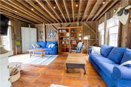 Chatham Cape Cod vacation rental - Living  room looking towards the back of the barn