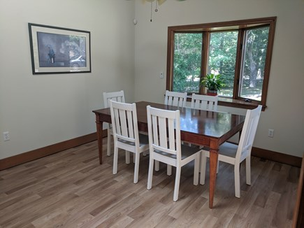 Falmouth Cape Cod vacation rental - Spacious dining room with view of large front yard.