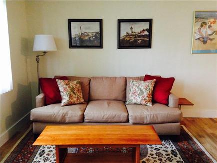 Falmouth Cape Cod vacation rental - Casual living room overlooking Little Pond