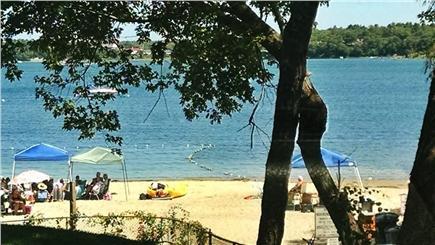 Wareham MA vacation rental - Swiming, fishing and boating at end of yard.