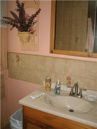 Wellfleet Cape Cod vacation rental - First flloor bath features large area, tub and shower/towel shelf