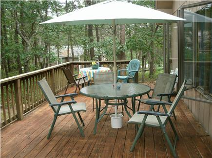 Wellfleet Cape Cod vacation rental - Dine out on spacious wrap/around deck.
