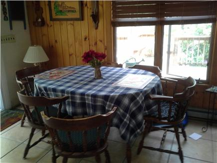 Wellfleet Cape Cod vacation rental - Dining area with access to deck which wraps around the home