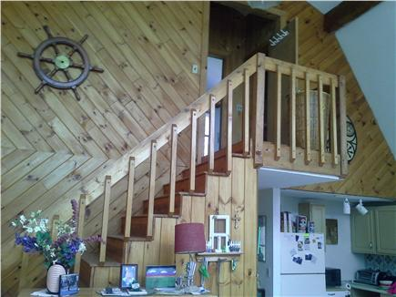 Wellfleet Cape Cod vacation rental - Stairway lead to two bedrooms and half-bath,