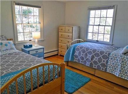 Brewster Cape Cod vacation rental - Bedroom on first floor with two Twins beds