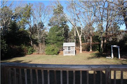 Brewster Cape Cod vacation rental - View of yard from back deck