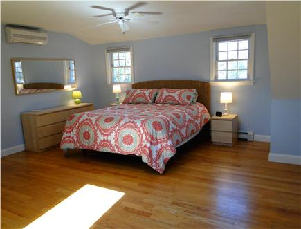 Brewster Cape Cod vacation rental - King size bedroom upstairs with skylight