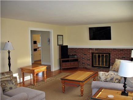 West Dennis Cape Cod vacation rental - Large living room has flatscreen TV and blue-ray player