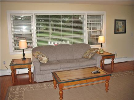 West Dennis Cape Cod vacation rental - Living room with nice view of the front yard