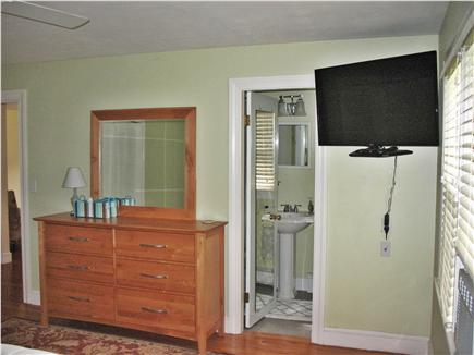 West Dennis Cape Cod vacation rental - Master bedroom has full bathroom and flatscreen TV