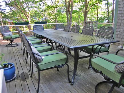 Eastham Cape Cod vacation rental - Outside dining for 12 on deck