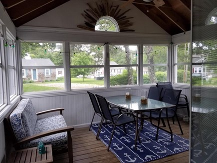 South Chatham Cape Cod vacation rental - Renovated screen porch, great for dining and game nights!