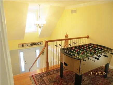 Dennis Cape Cod vacation rental - Fooz-Ball Fun on the 2nd floor foyer!