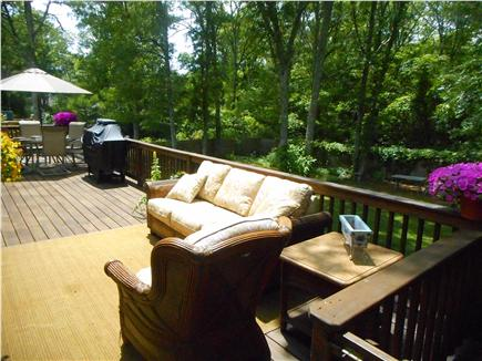 Centerville, Barnstable Centerville vacation rental - Lounge area with quiet fenced back yard for relaxing.
