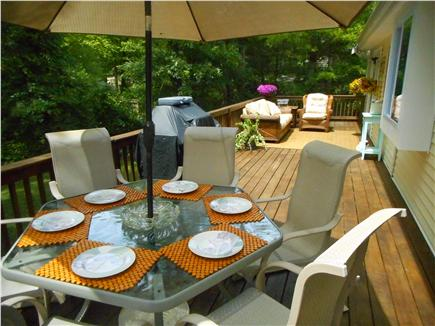 Centerville, Barnstable Centerville vacation rental - 50 foot long deck with 1 gas barbecue.