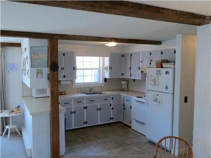 Eastham Cape Cod vacation rental - Full kitchen with microwave, fridge and cooking utensils