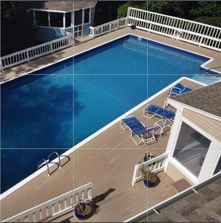 Dennis Cape Cod vacation rental - 50' x 20' pool w screened gazebo, No salt, No sharks, No worries!