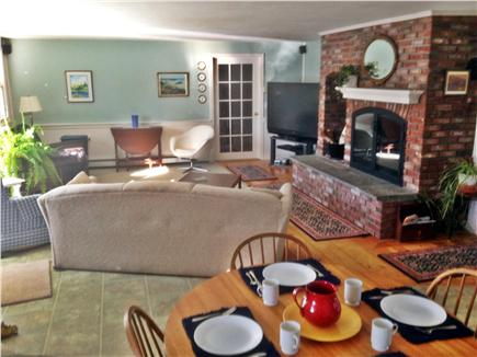 Dennis Cape Cod vacation rental - Great room with sliders to deck and pool