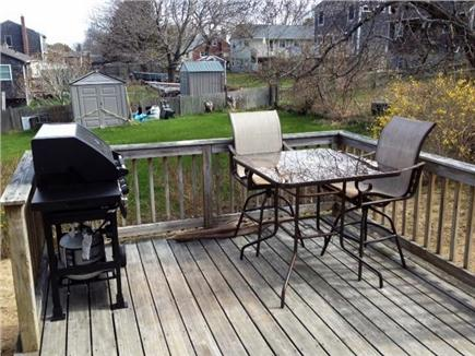 Manomet, White Horse Beach Manomet vacation rental - Back deck with gass grill and table for four off the bonus room
