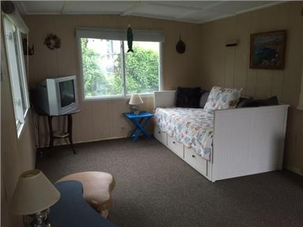 Manomet, White Horse Beach Manomet vacation rental - Sunny bonus room, slider to back deck, trundle= 2 twins or 1 king