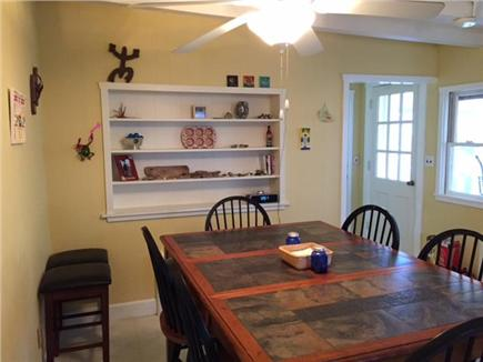Manomet, White Horse Beach Manomet vacation rental - Expandable slate table with seating for eight.
