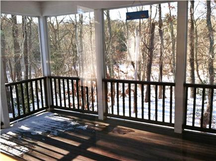 New Seabury, Mashpee New Seabury vacation rental - Screened in Porch with TV and access to back deck