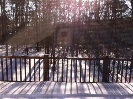 New Seabury, Mashpee New Seabury vacation rental - View of wrap around back deck with Vermont Casting Grill